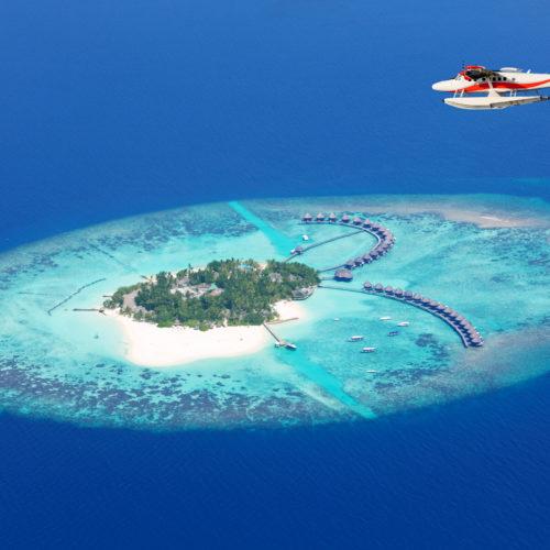Les Maldives vues du ciel...