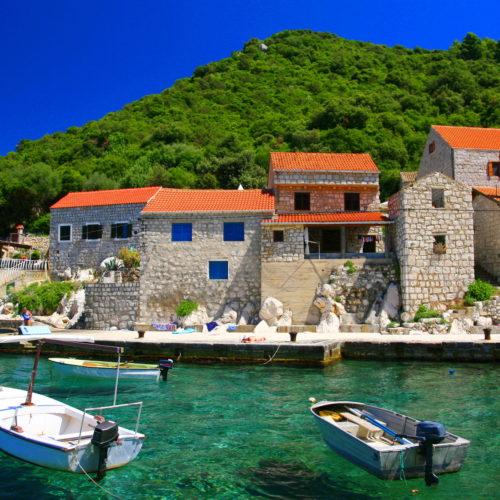Lucica village on Island Lastovo, Croatia